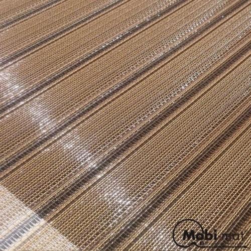 Tapis de cheminement déroulable aspect bois