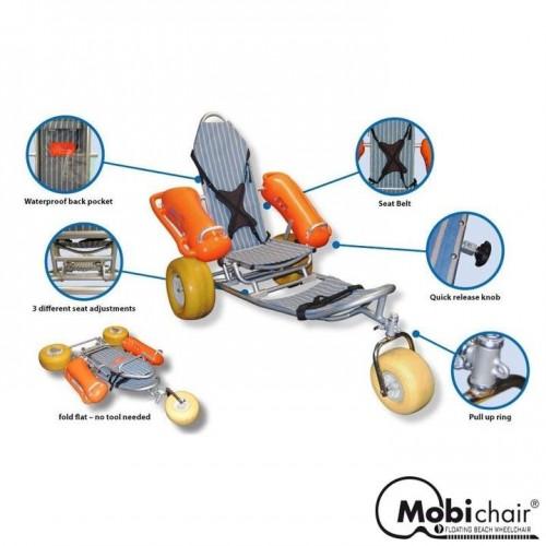 Fauteuil roulant de plage PMR Mobi-Chair®